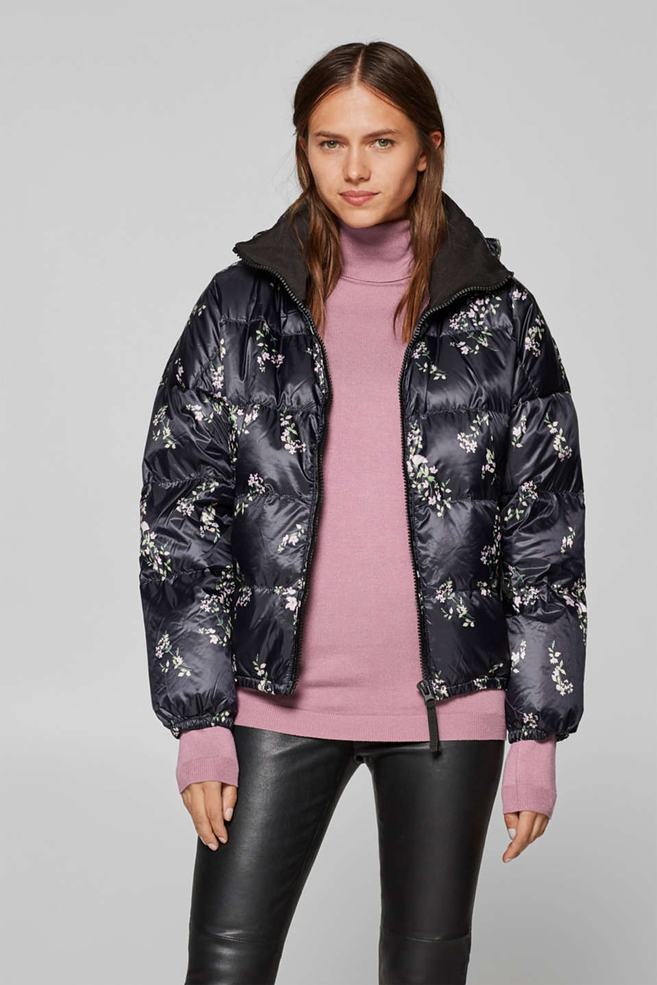 4b61fd59928 edc - Lightweight down jacket with floral print at our Online Shop
