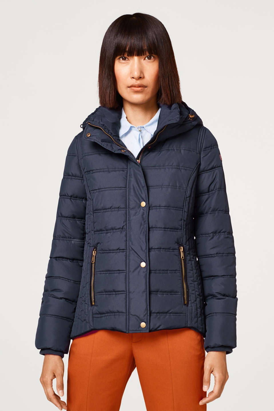 edc - Padded quilted jacket with a hood