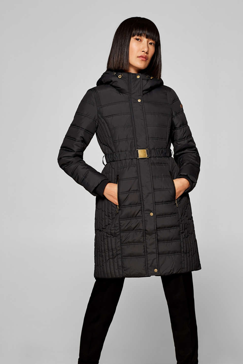 edc - Fitted quilted coat with padding