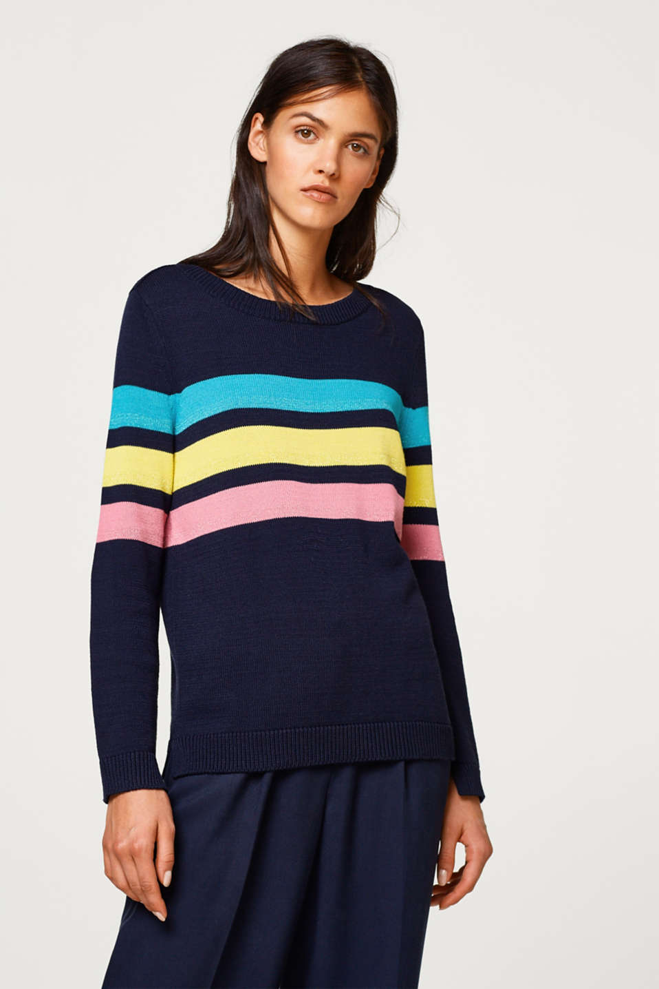 edc - Fine knit jumper with colourful stripes