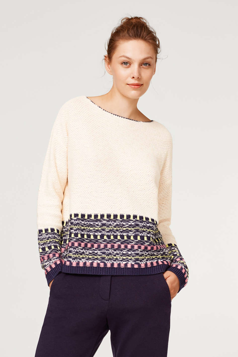 edc - With wool: jumper with jacquard pattern