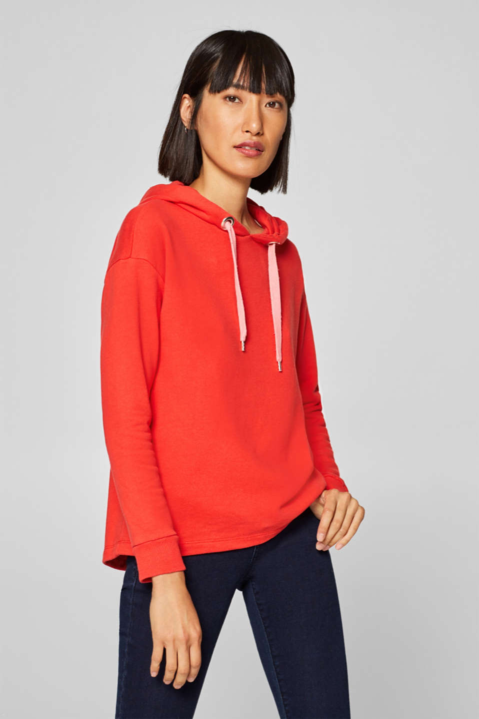 edc - Oversized Sweat-Hoodie mit High-Low-Saum