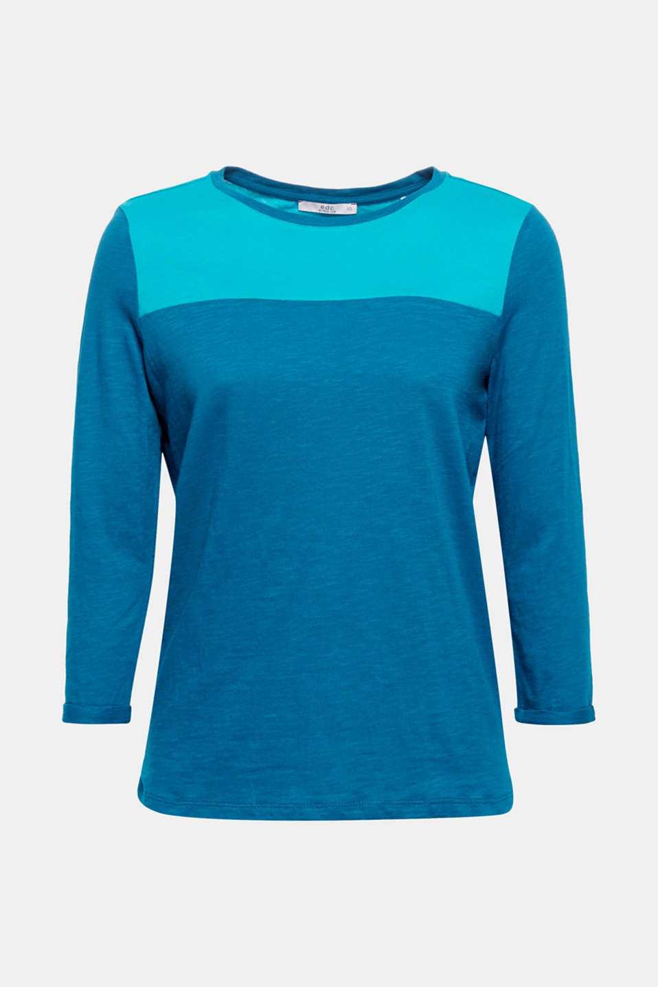Colour blocking made easy: This airy textured slub T-shirt made of pure cotton is a great mix-and-match piece for creating great looks!