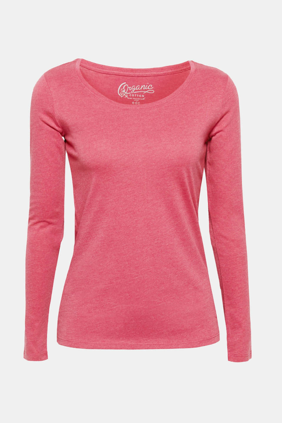 This long sleeve top with environmentally friendly, high-quality organic cotton and a large, feminine neckline is the perfect essential for your look!