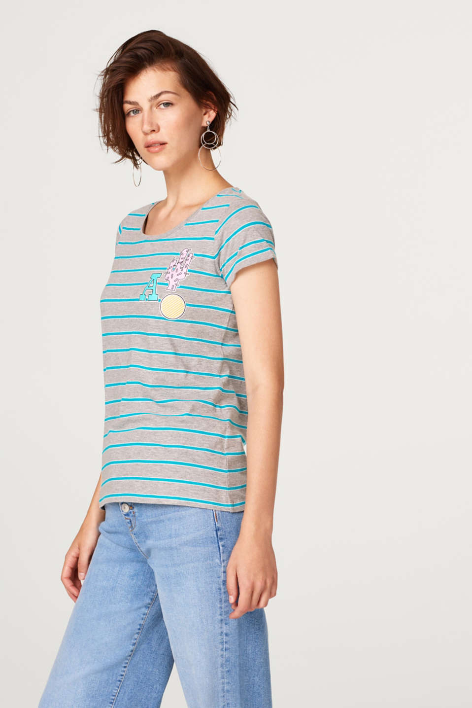 edc - Jersey top with stripes and a comic print