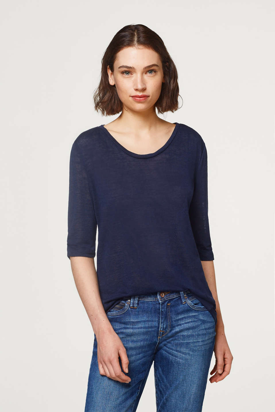 edc - Airy T-shirt with gathered sleeves