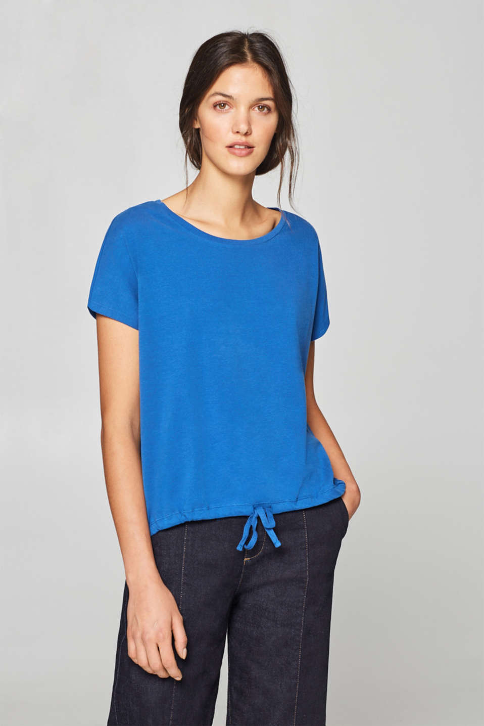 edc - Soft stretch top with a drawstring