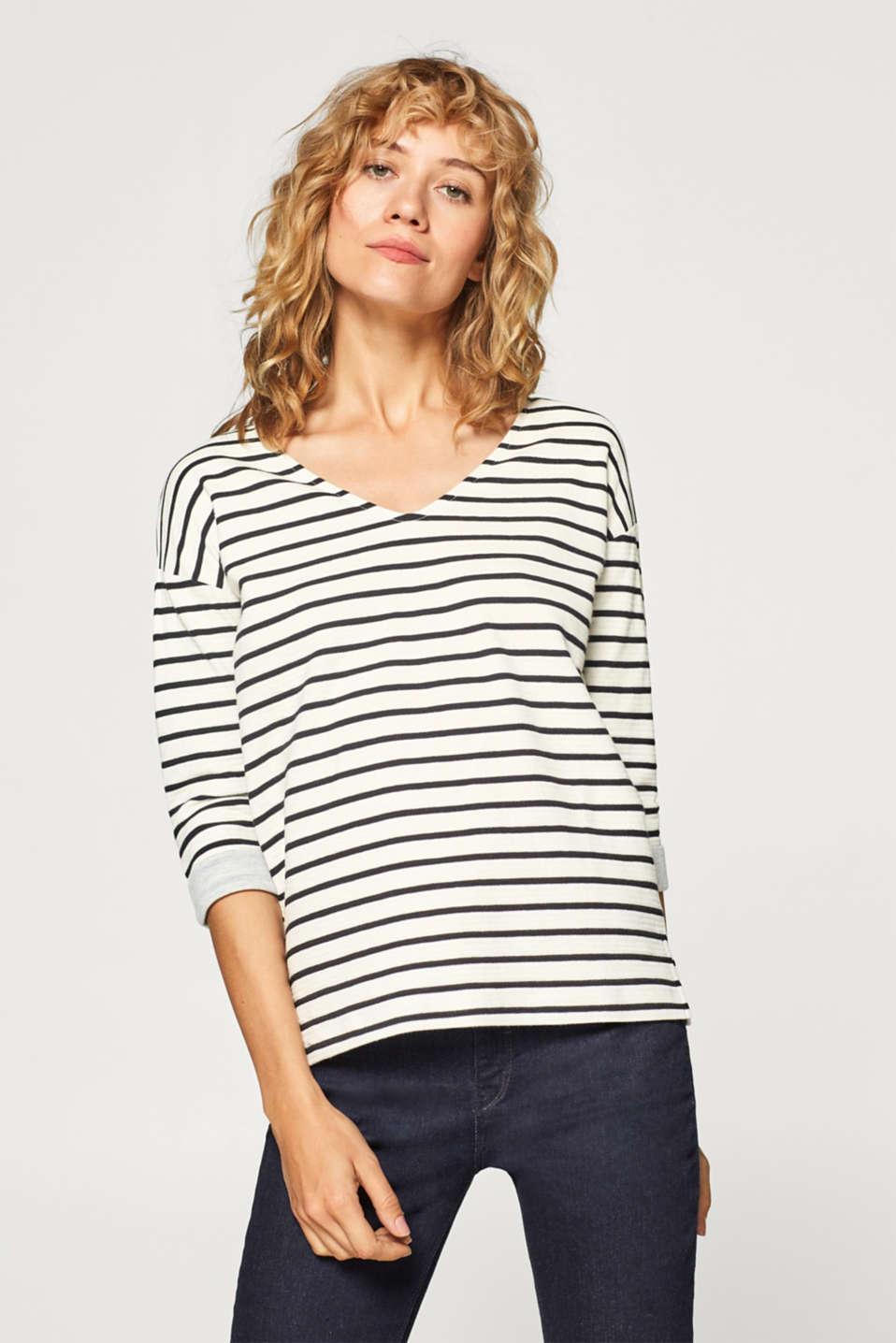99b8f3f294 edc : Maglia in jersey a righe con cotone nel nostro shop on-line