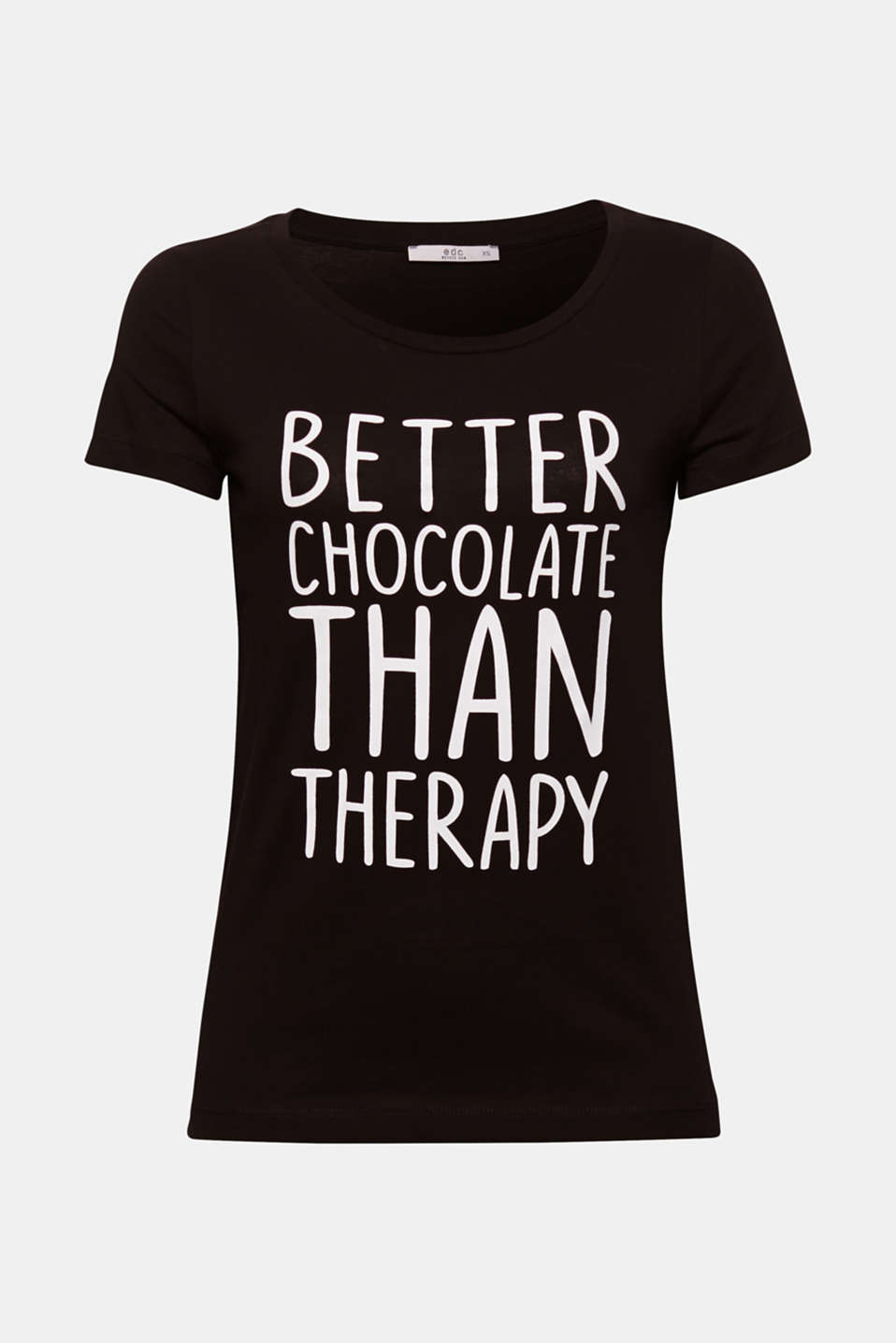 Chocolate helps! And this statement T-shirt with a fun message is guaranteed to cheer you up.