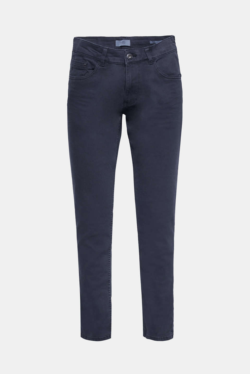 Stylish trend colours make these slim-fitting jeans a favourite for this season.