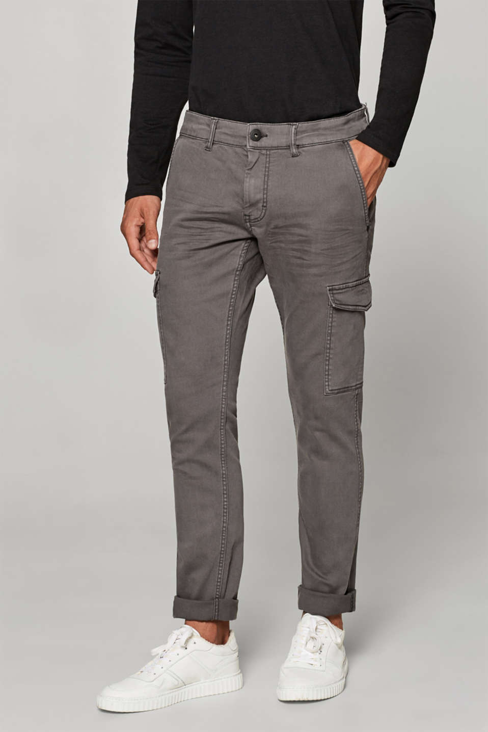 edc - Stretch jeans with cargo pockets