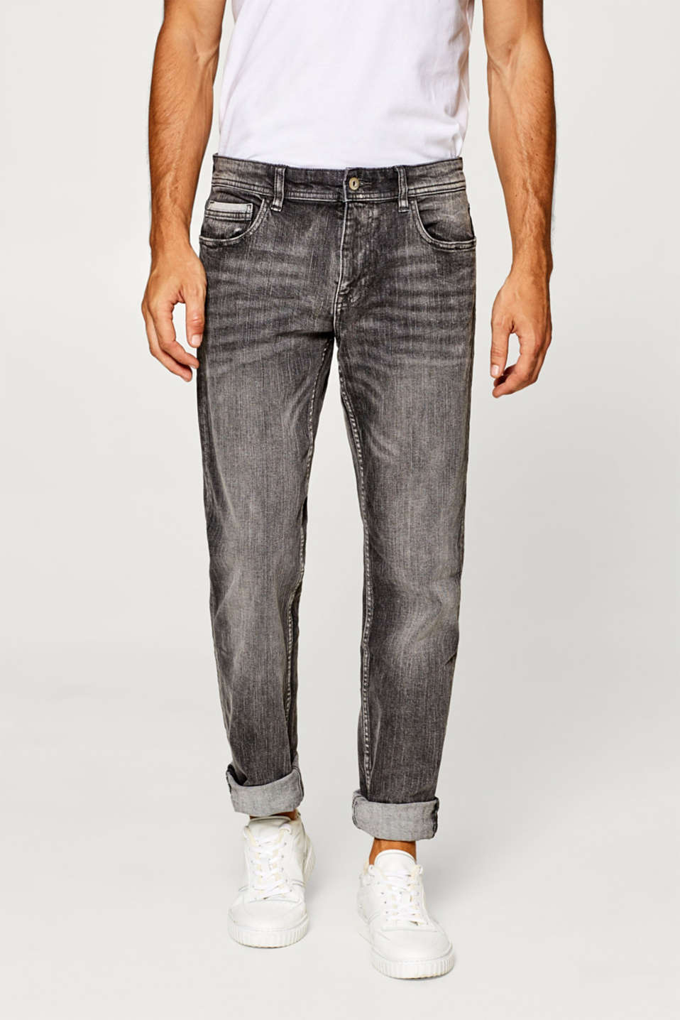 edc - Stretch jeans with a variety of garment-washed effects