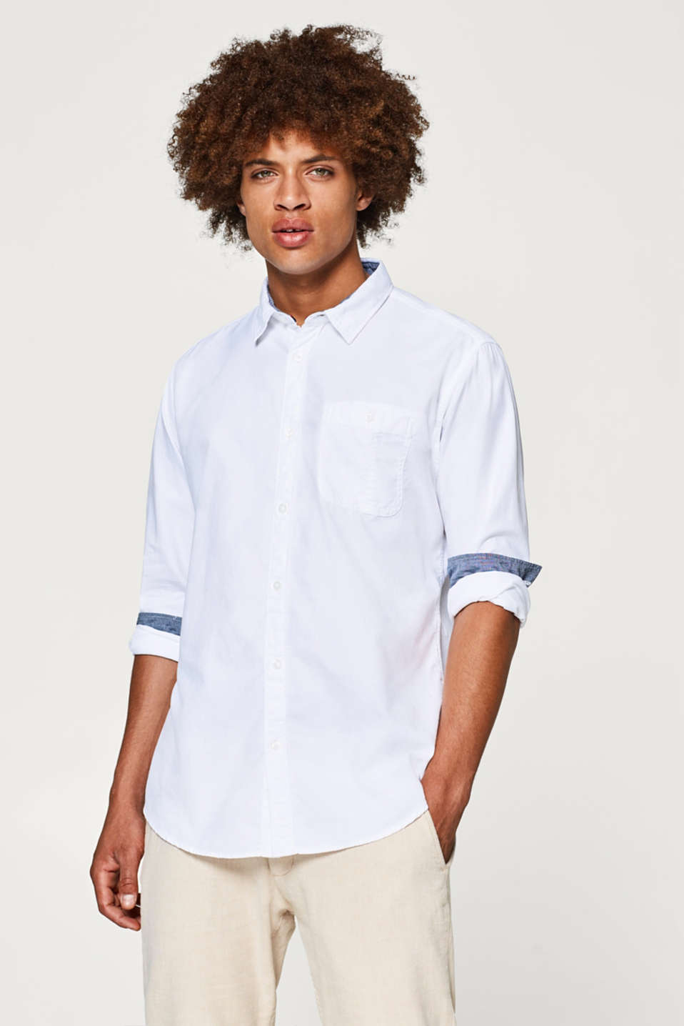 edc - Twill shirt in pure cotton