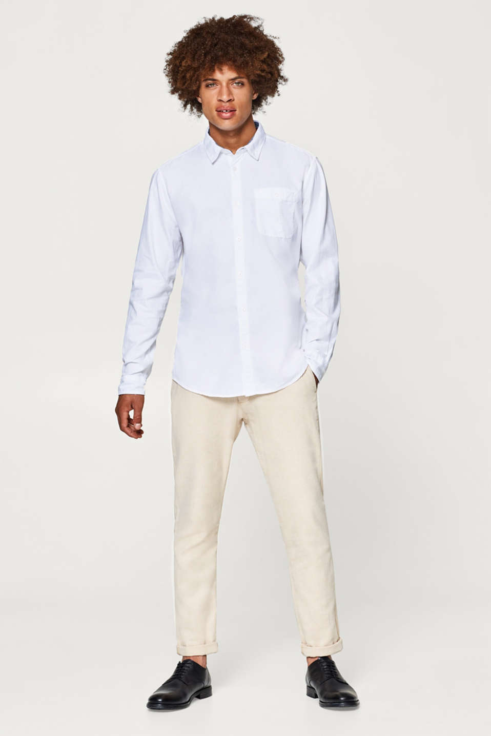 Twill shirt in pure cotton