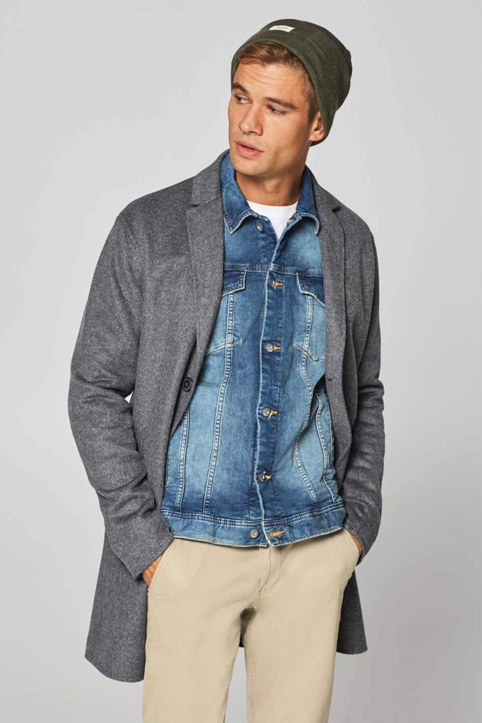 Denim jacket with vintage effects
