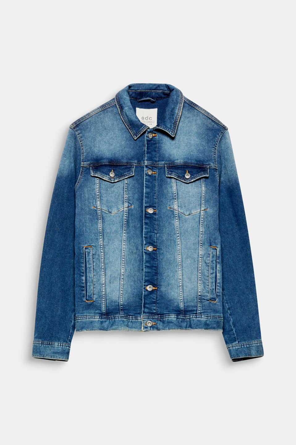 We love denim! The distinctive stone-washed effect and vintage effects on the edges give this denim jacket its urban look.