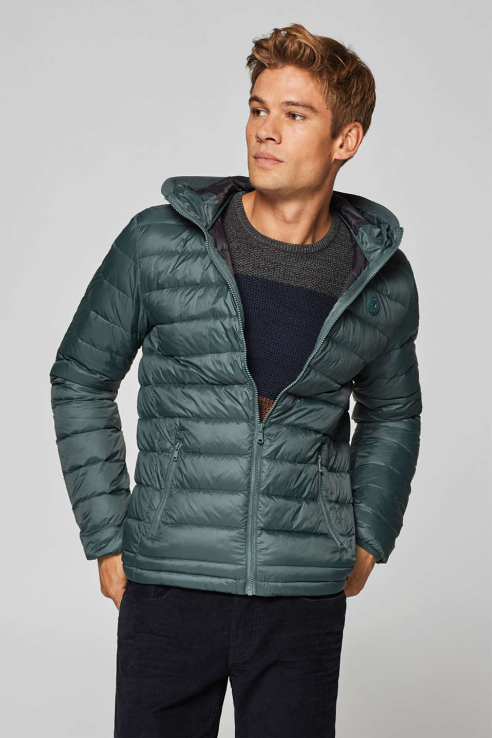 edc - Quilted jacket with down/feather filling