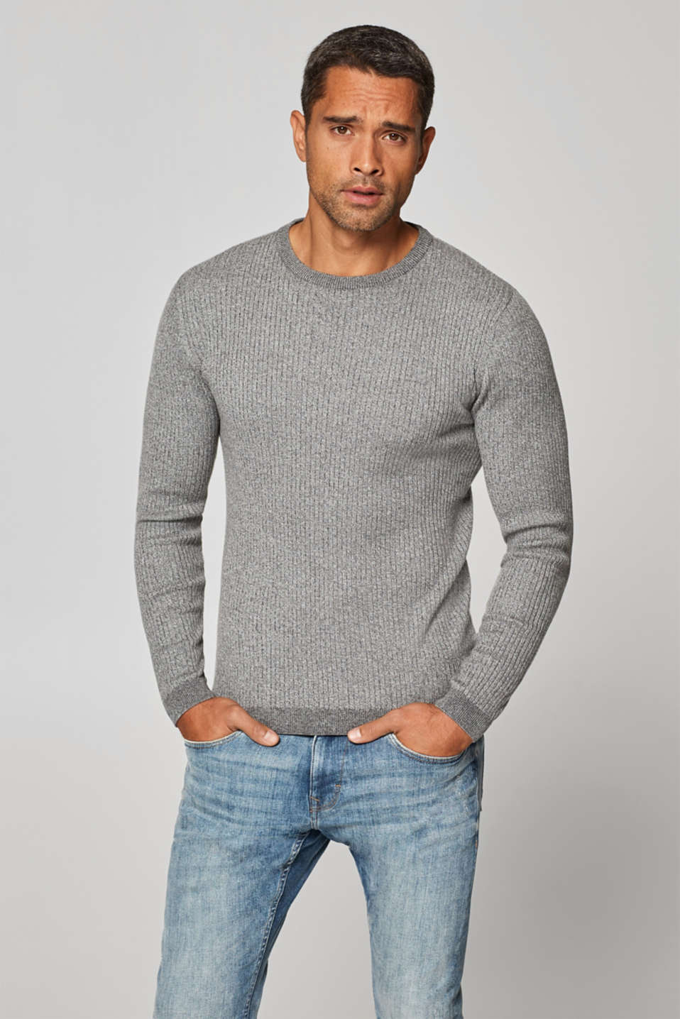 edc - Muscle Fit jumper in 100% cotton