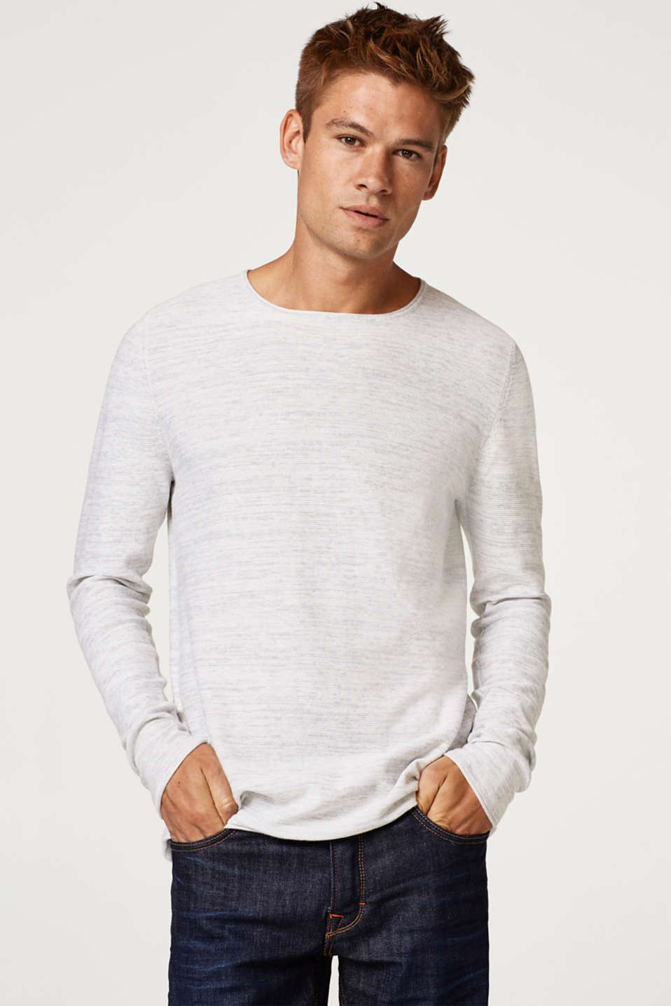 edc - Jersey jumper in 100% cotton