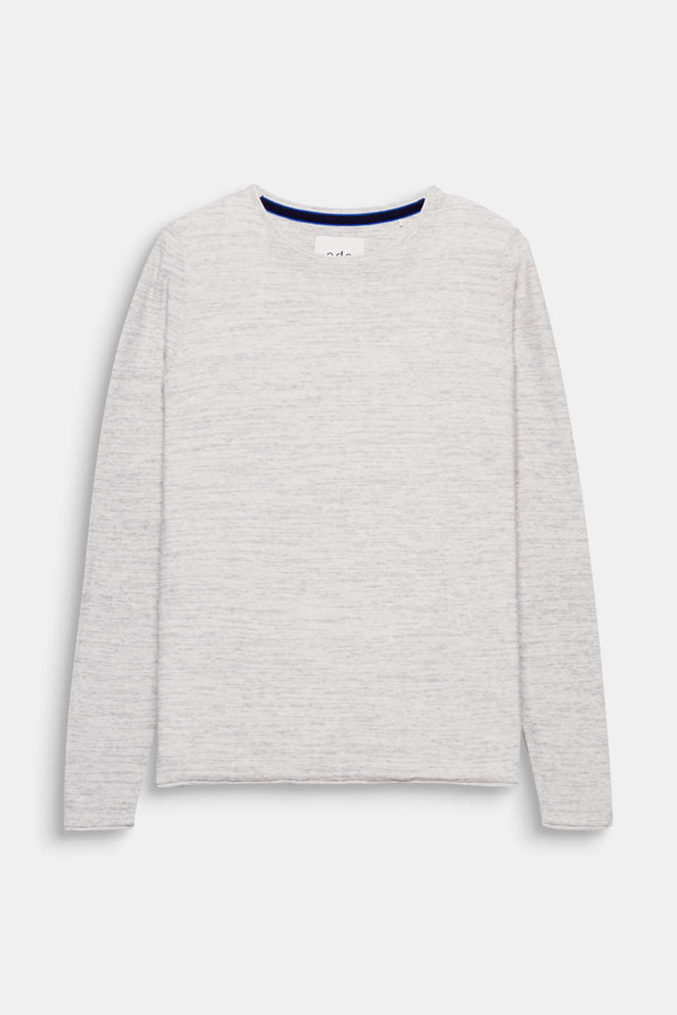 A brilliant basic for between seasons: jersey jumper with textured stripes, 100% cotton.