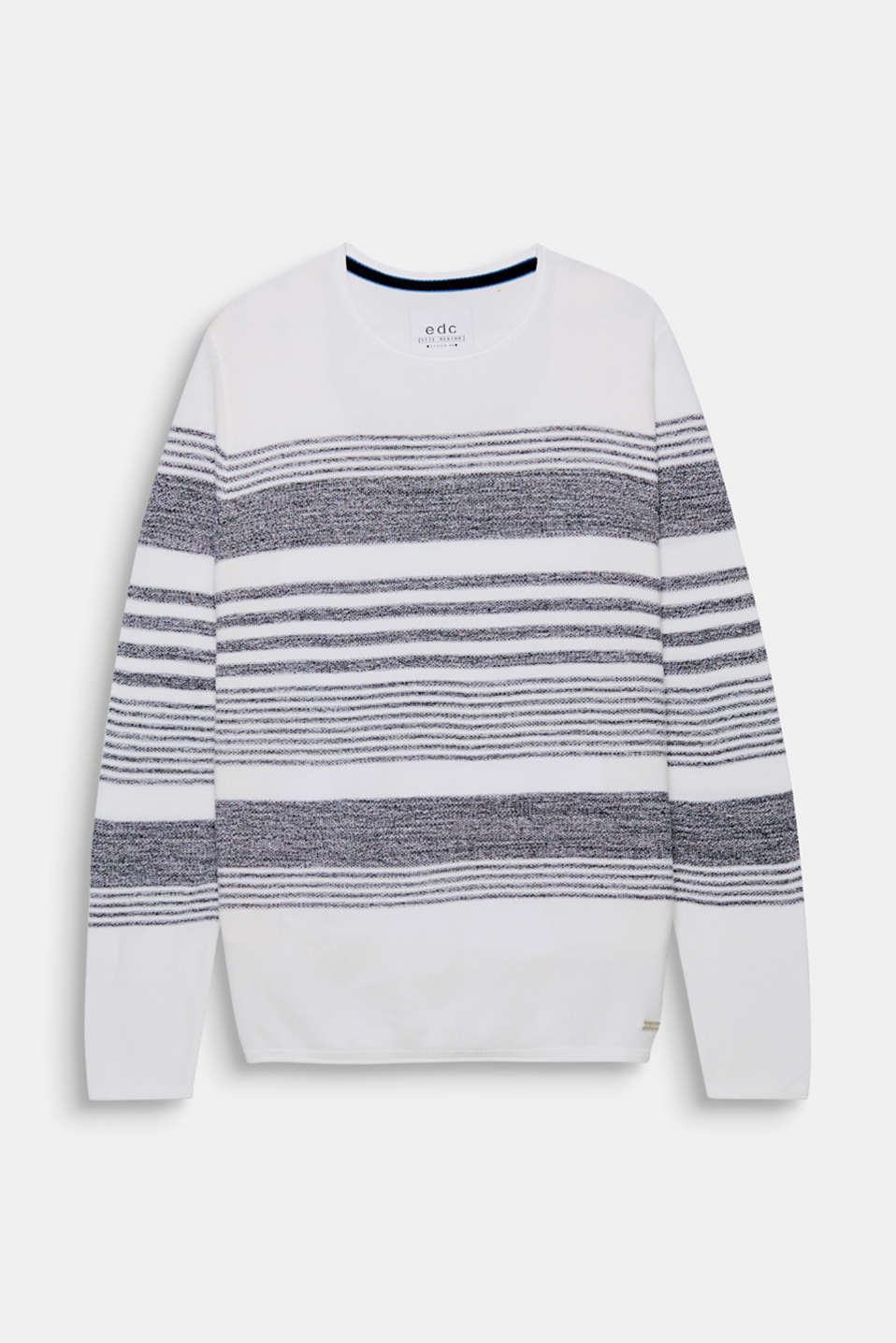 This lightweight, knitted jumper with a nautical striped look is perfect for between seasons.