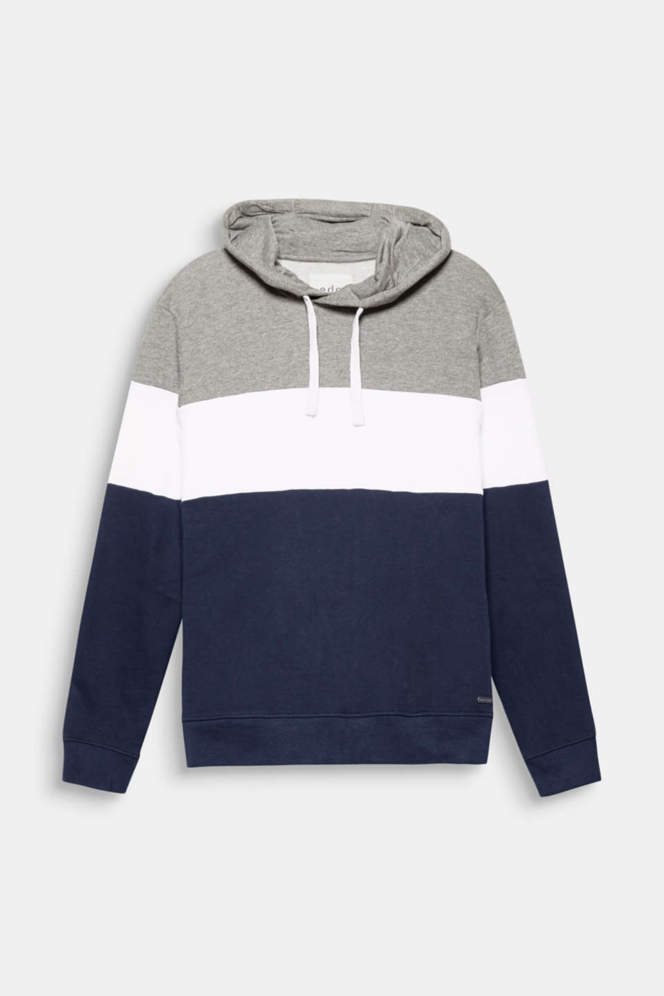 Sportswear meets colours – with this sweatshirt hoodie in blended cotton make a strong fashion statement