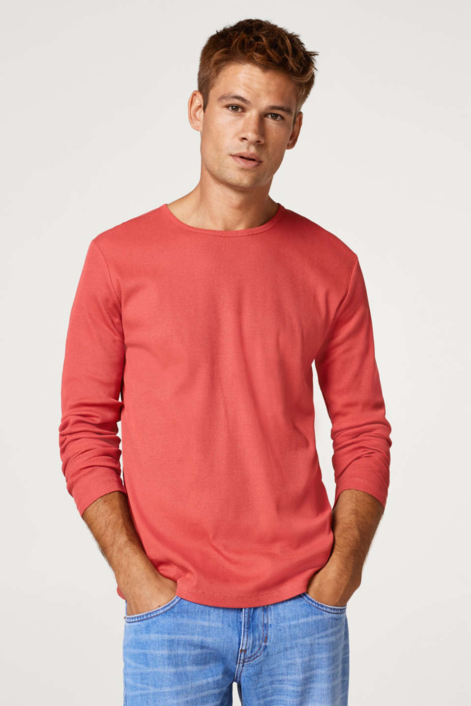 edc - Ribbed long sleeve top in 100% cotton
