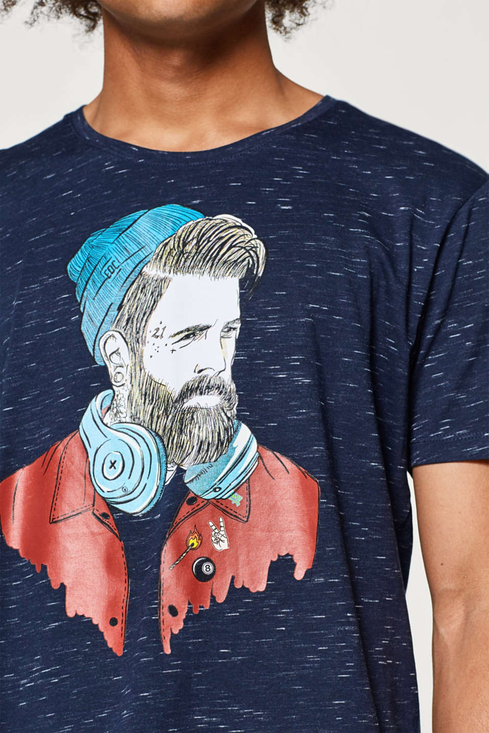 T-shirt in slub jersey with an illustration