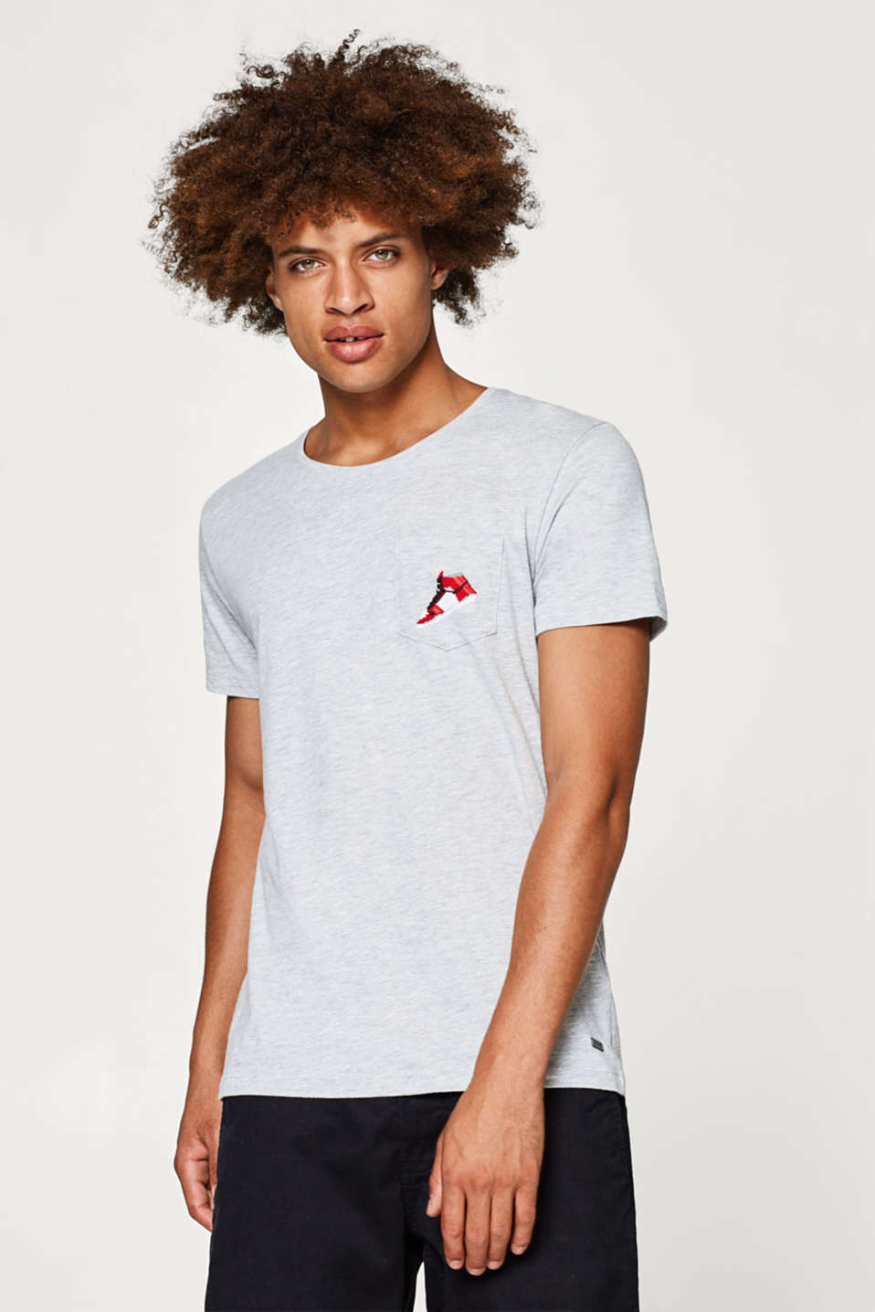 edc - Jersey T-shirt with a printed breast pocket