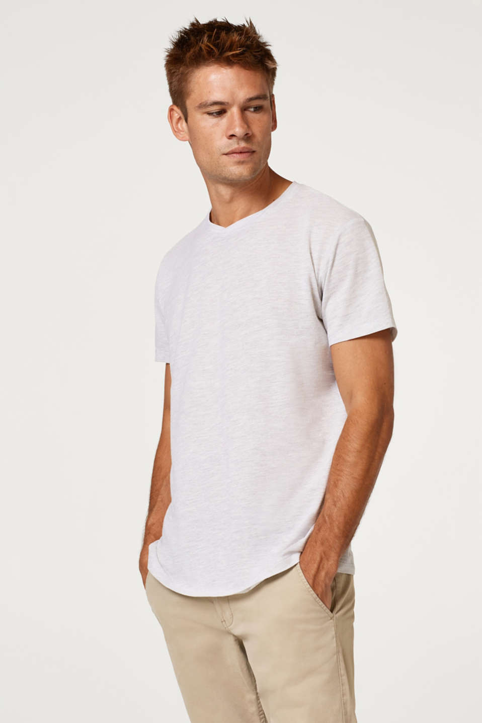edc - Piqué T-shirt in blended cotton