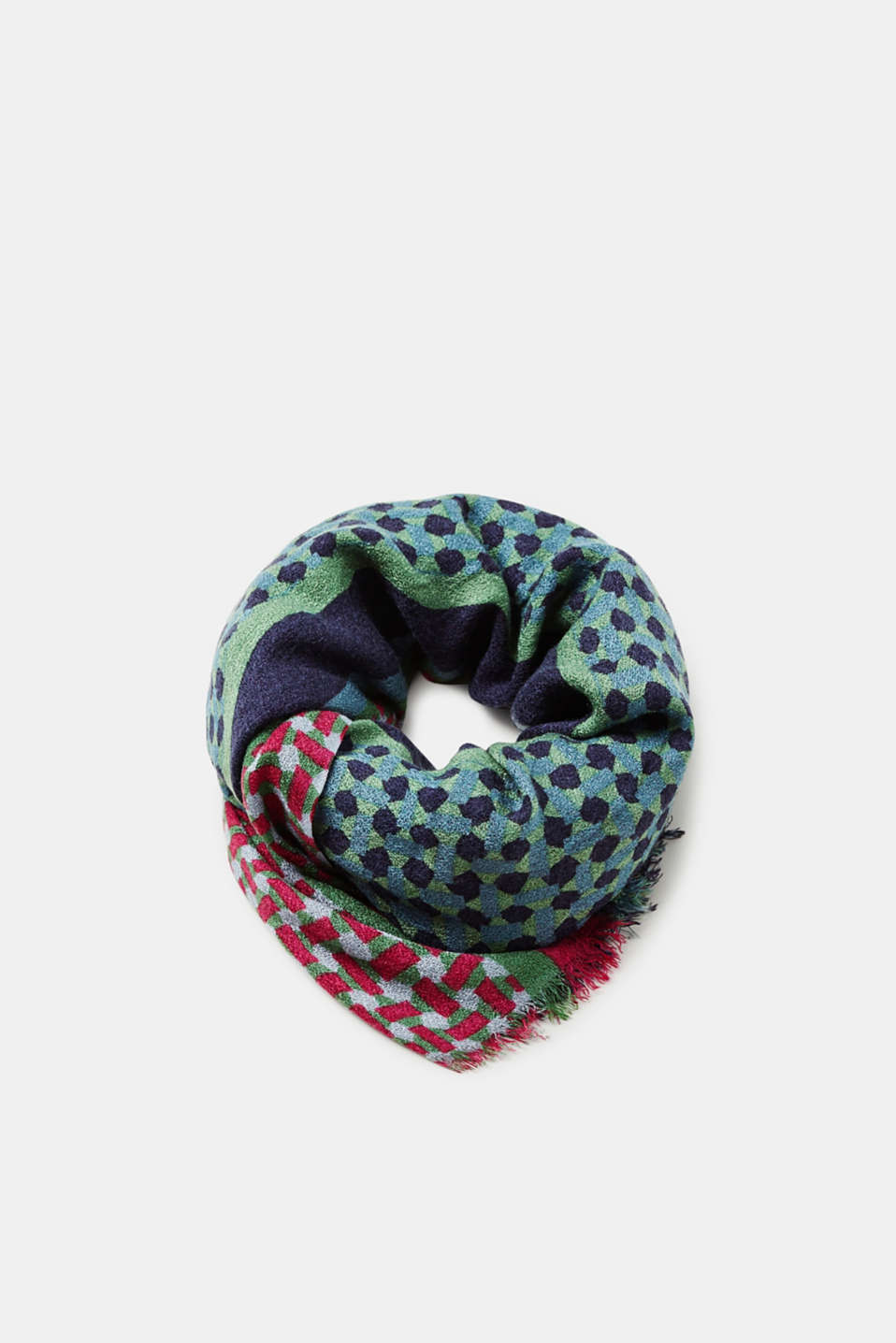 Esprit - Lightweight knitted scarf in a mix of patterns