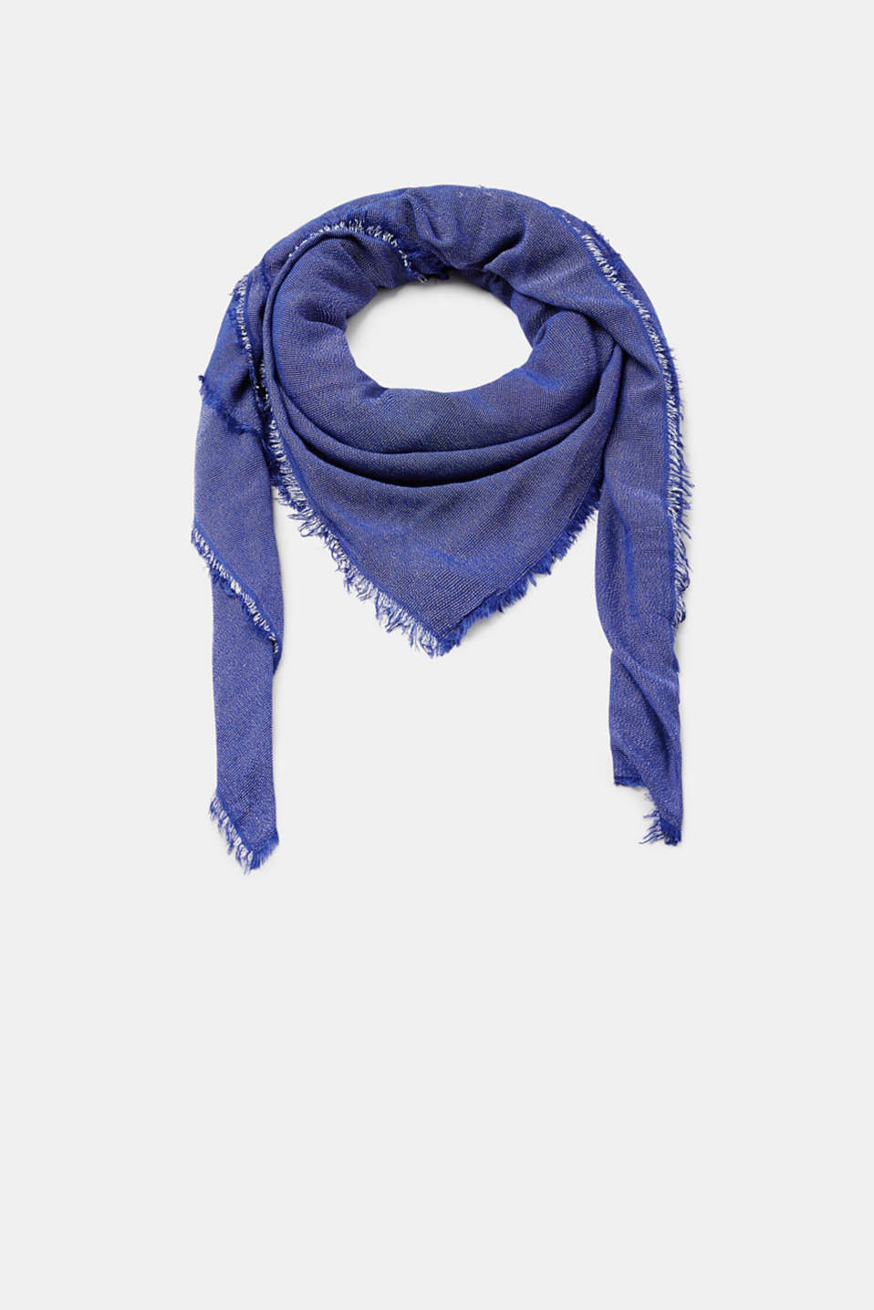 Esprit - Melange scarf with fringing