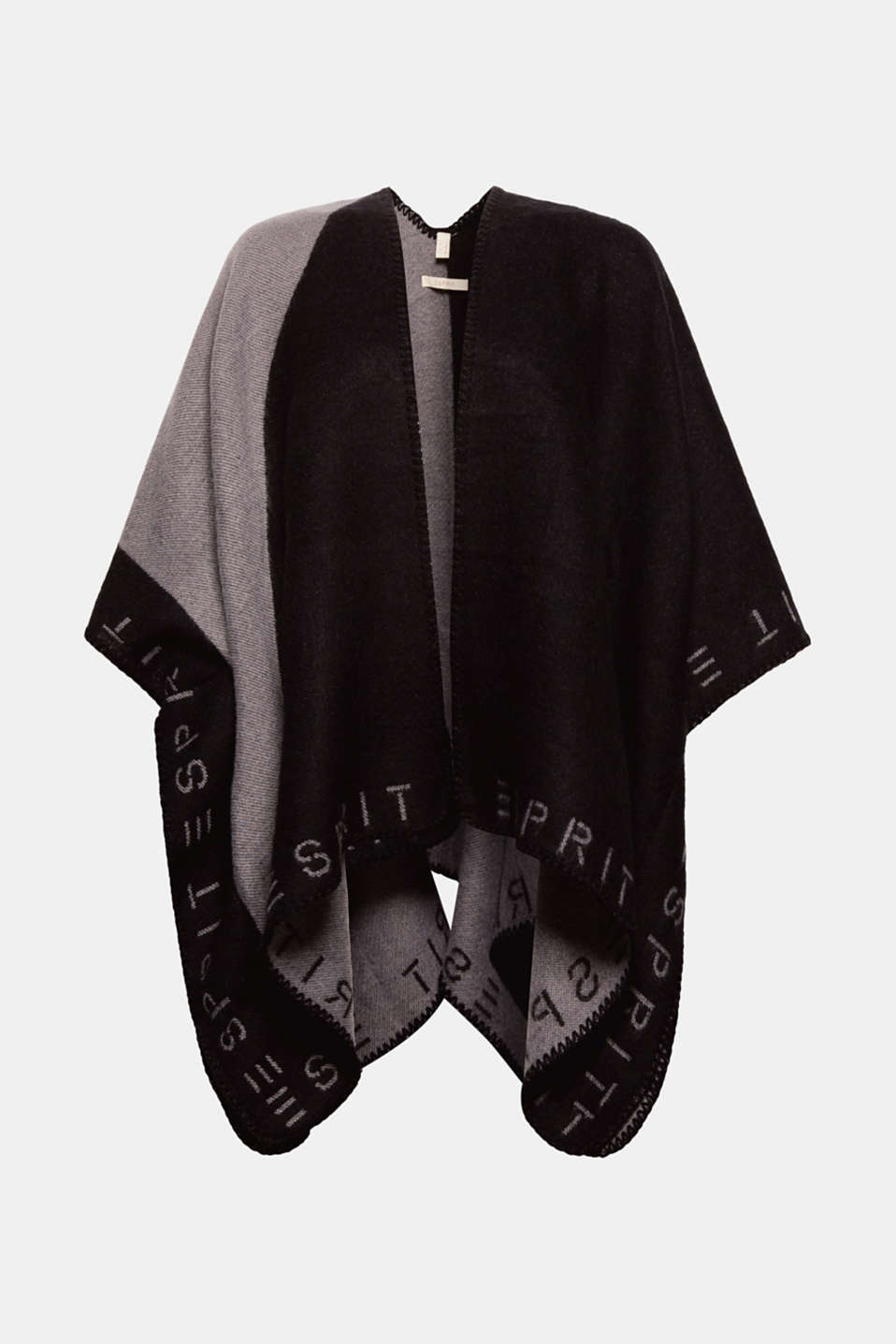 Esprit - Bi-colour poncho cardigan