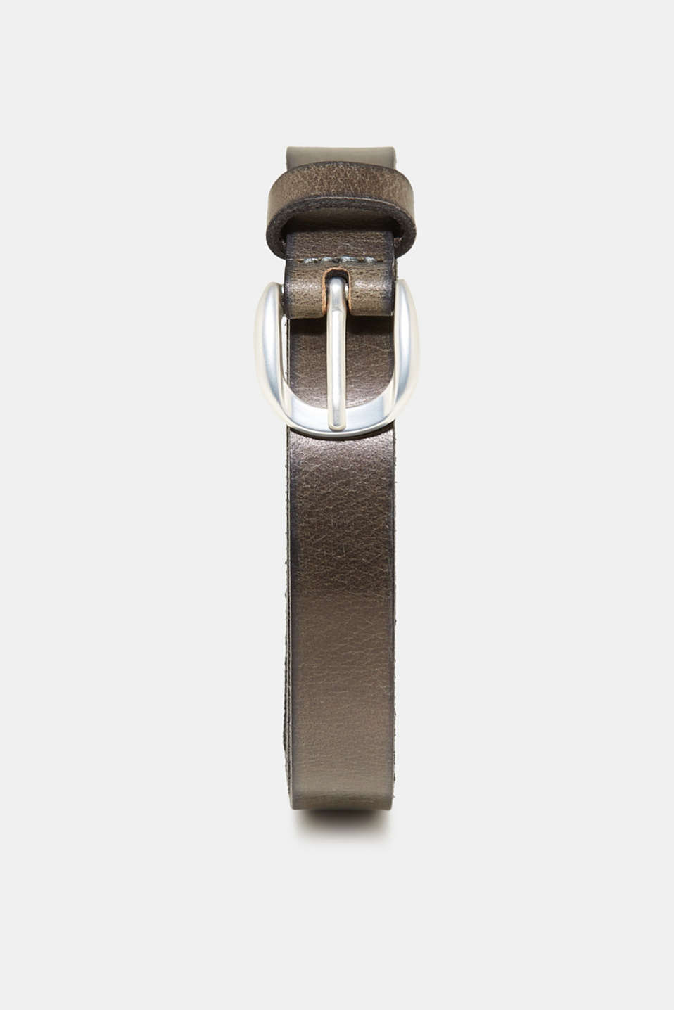 Esprit - Narrow belt made of 100% buffalo leather