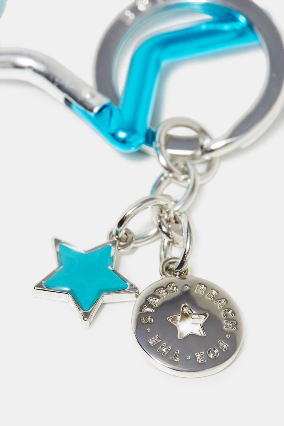 Key ring with star motifs
