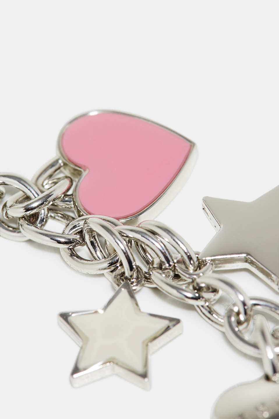 Key-ring with metal charms