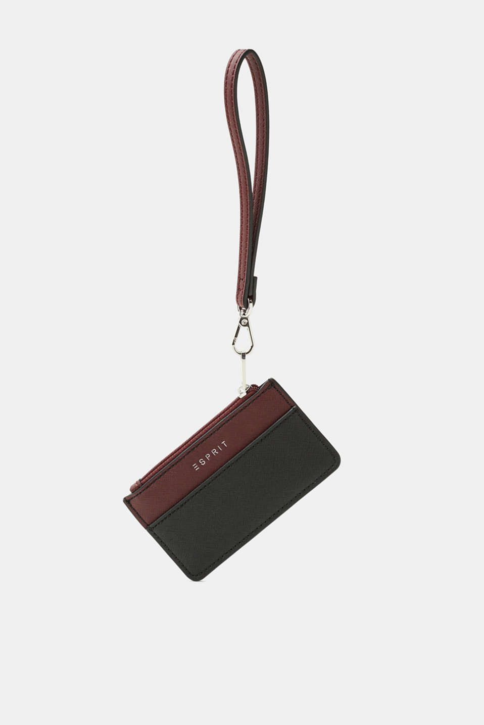 Esprit - Faux leather card holder with a loop