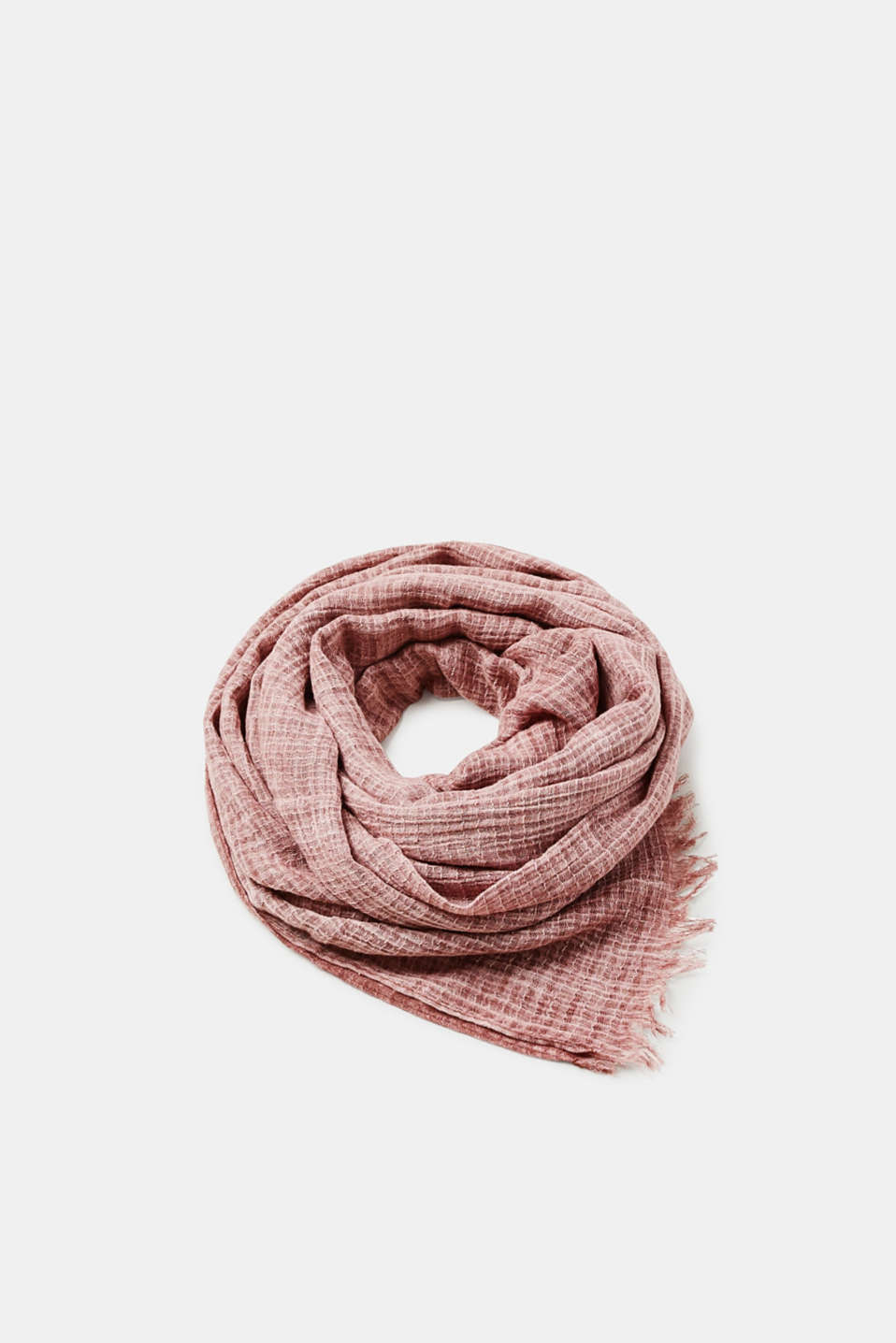 Esprit - 100% cotton scarf with a washed-out finish
