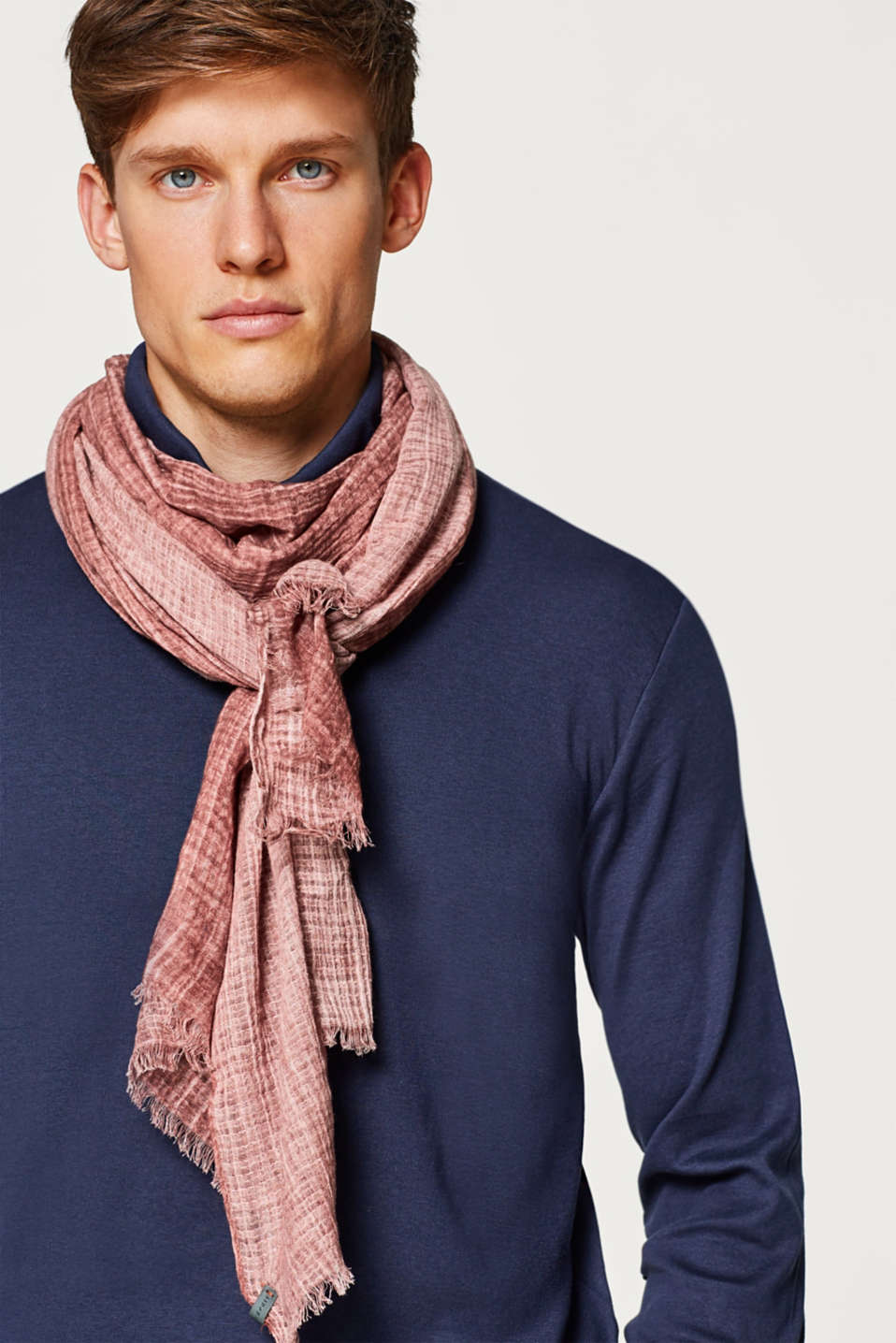 100% cotton scarf with a washed-out finish