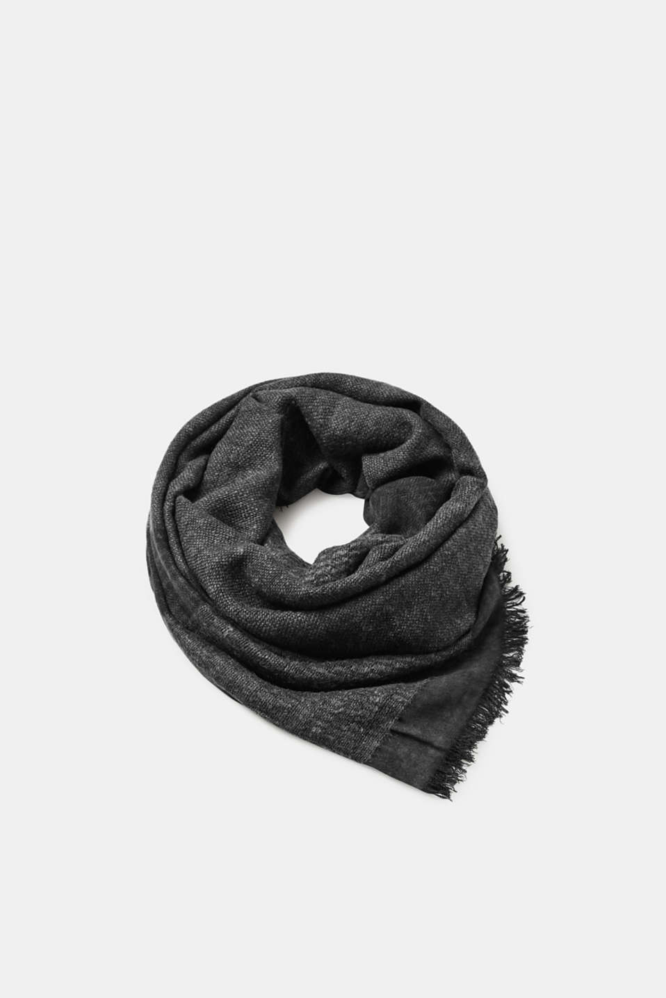 Esprit - Woven scarf with fringing
