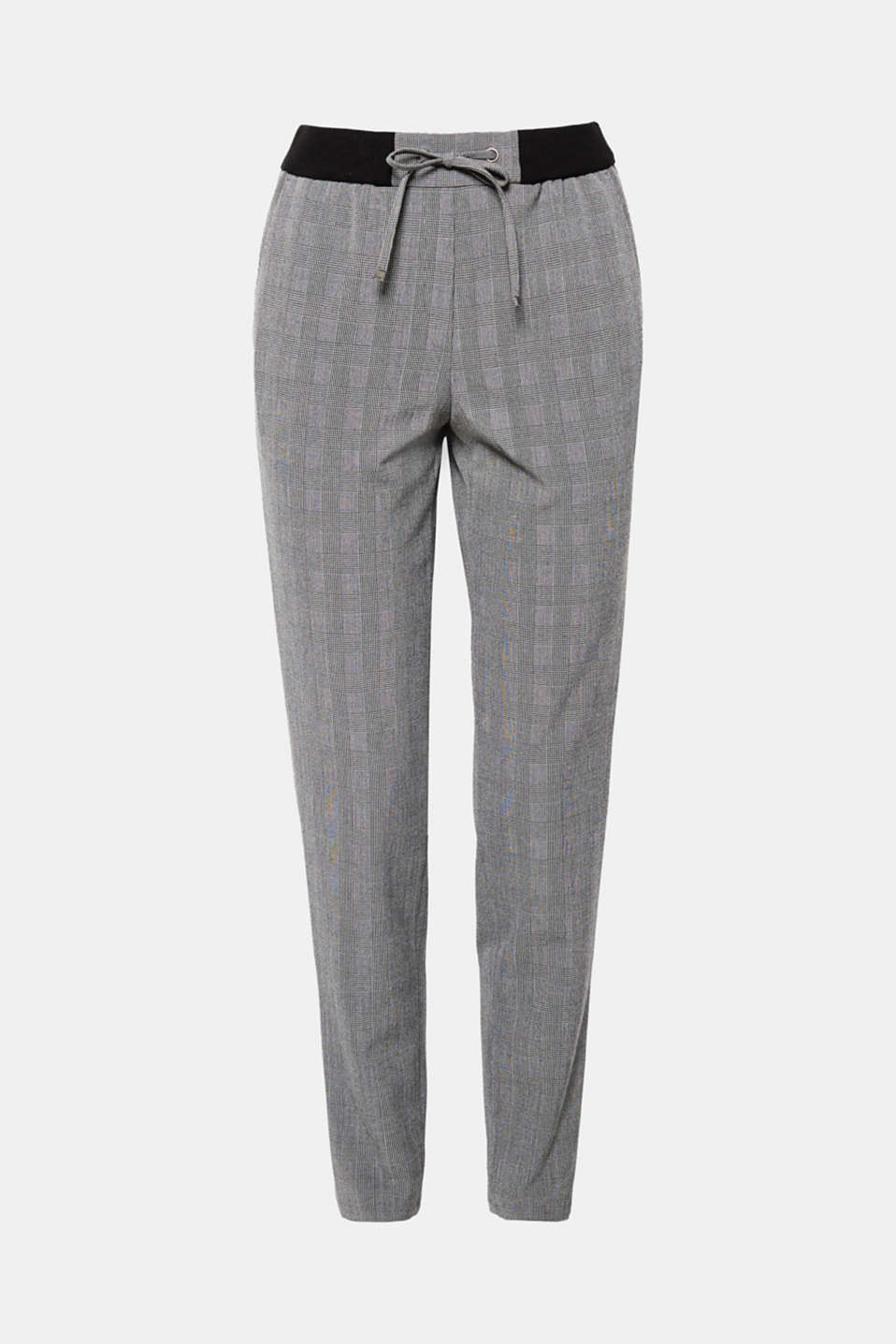 These tracksuit bottoms with a fine Prince of Wales check pattern and an elasticated waistband combine casual comfort with timeless, classic elements.
