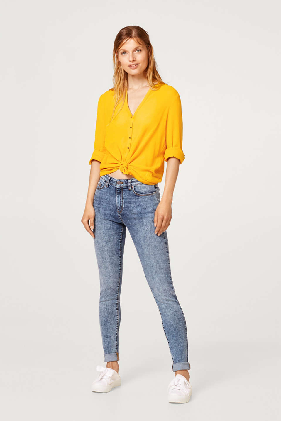 Esprit - Stretch jeans with an acid wash