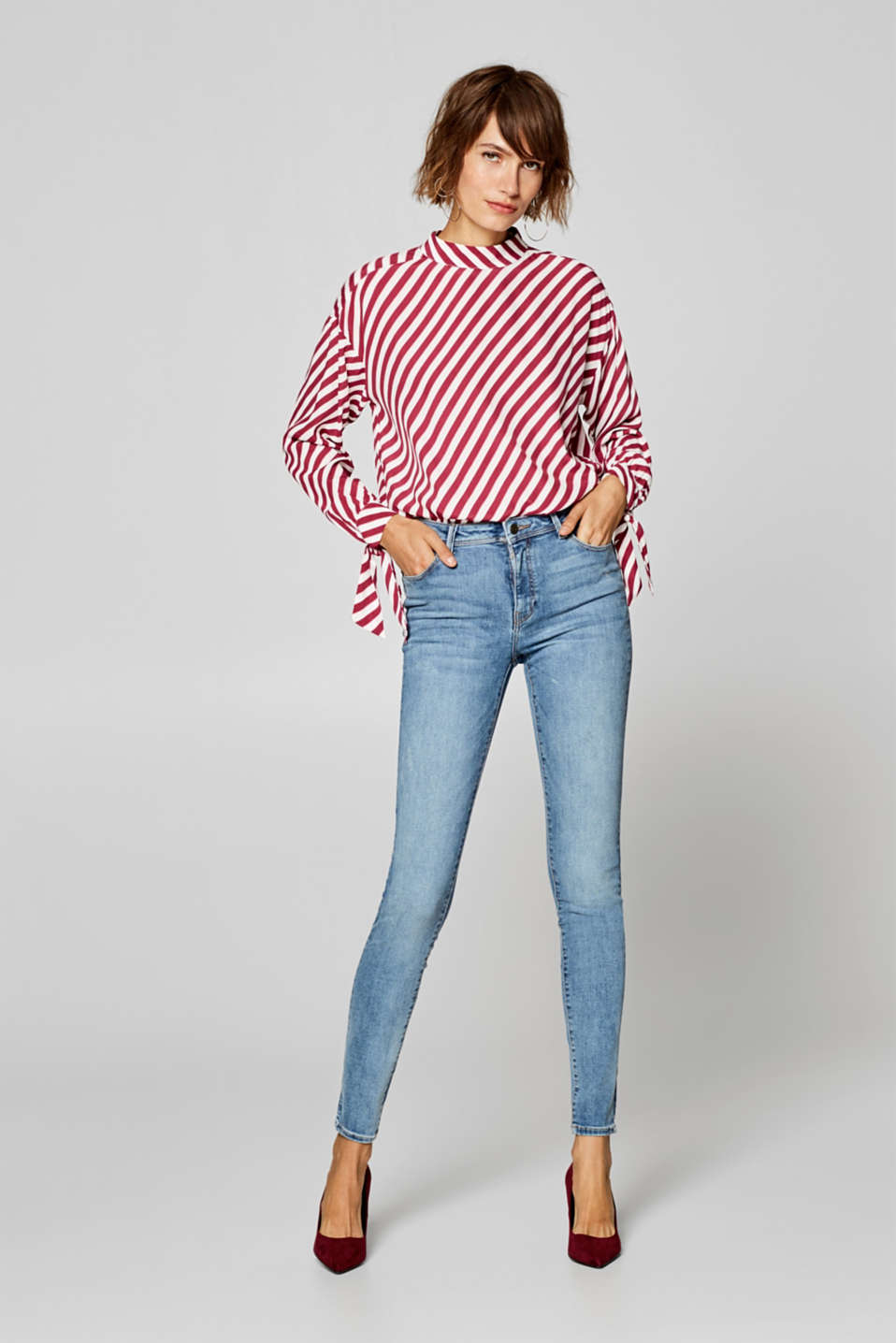 Esprit - Figure-shaping jeans with a vintage finish