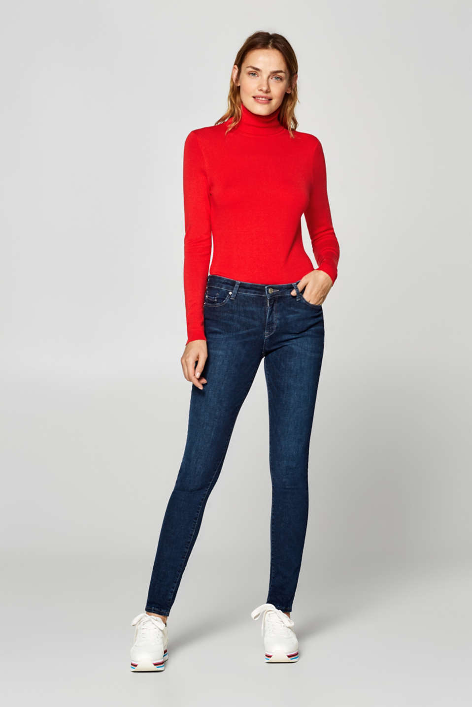 Esprit - Super stretch jeans in recycled material