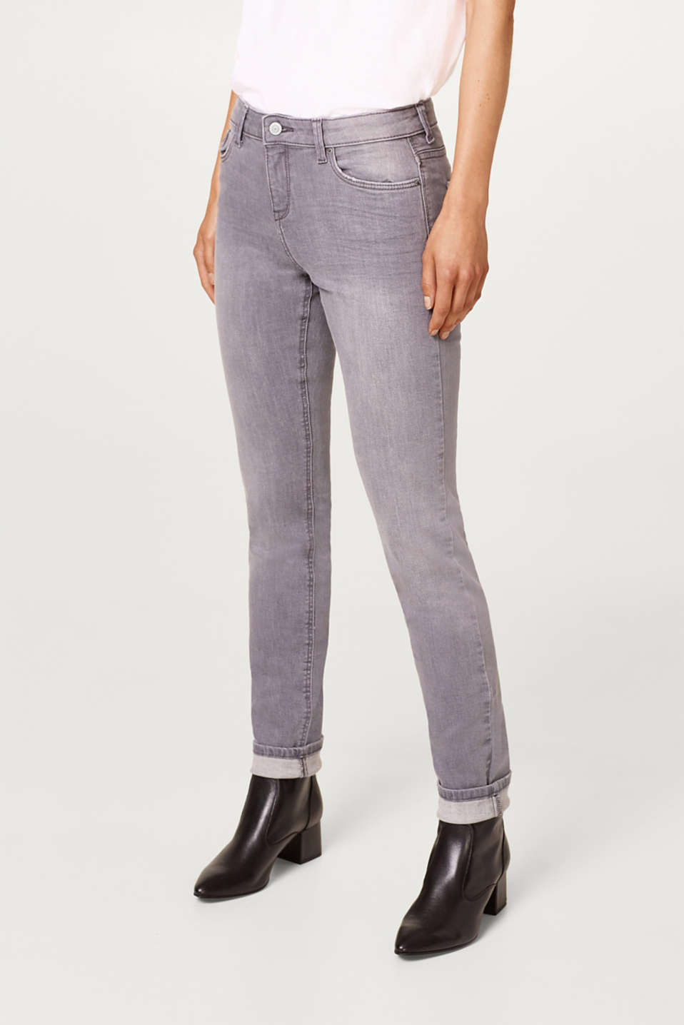 Esprit - Stretch jeans in soft tracksuit fabric