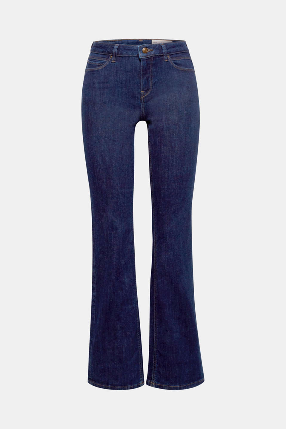 These stretch bootcut jeans in dark denim creates a super trendy, beautiful silhouette.