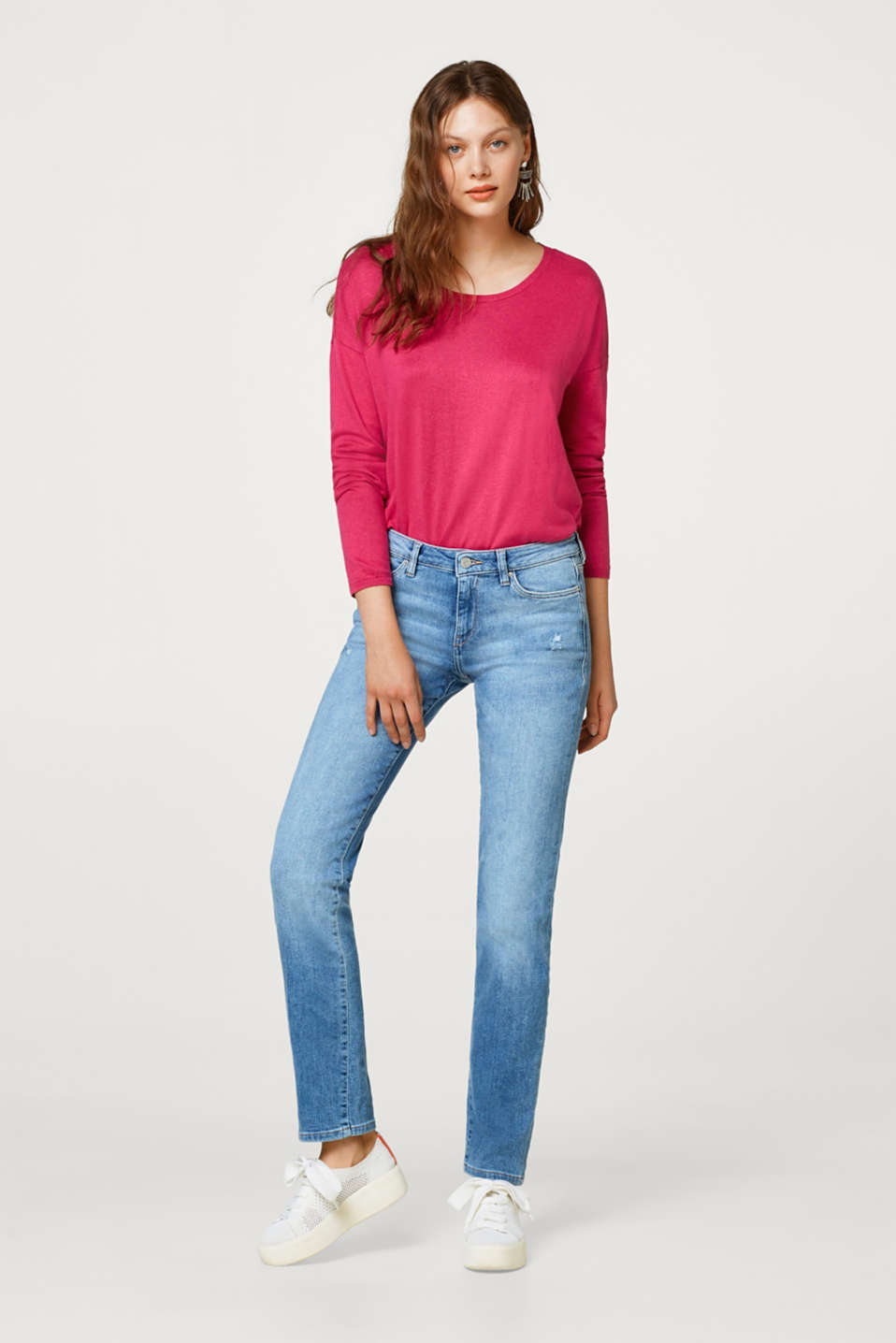 Esprit - Stretch-Jeans mit Used-Effekten