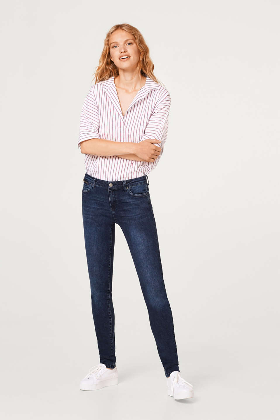 Esprit - Stretch jeans with a zip pocket