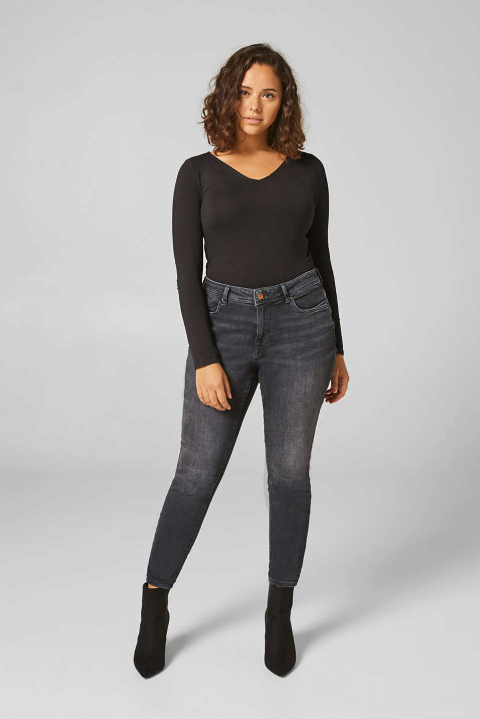 Esprit - ESPRIT CURVES slim stretch jeans