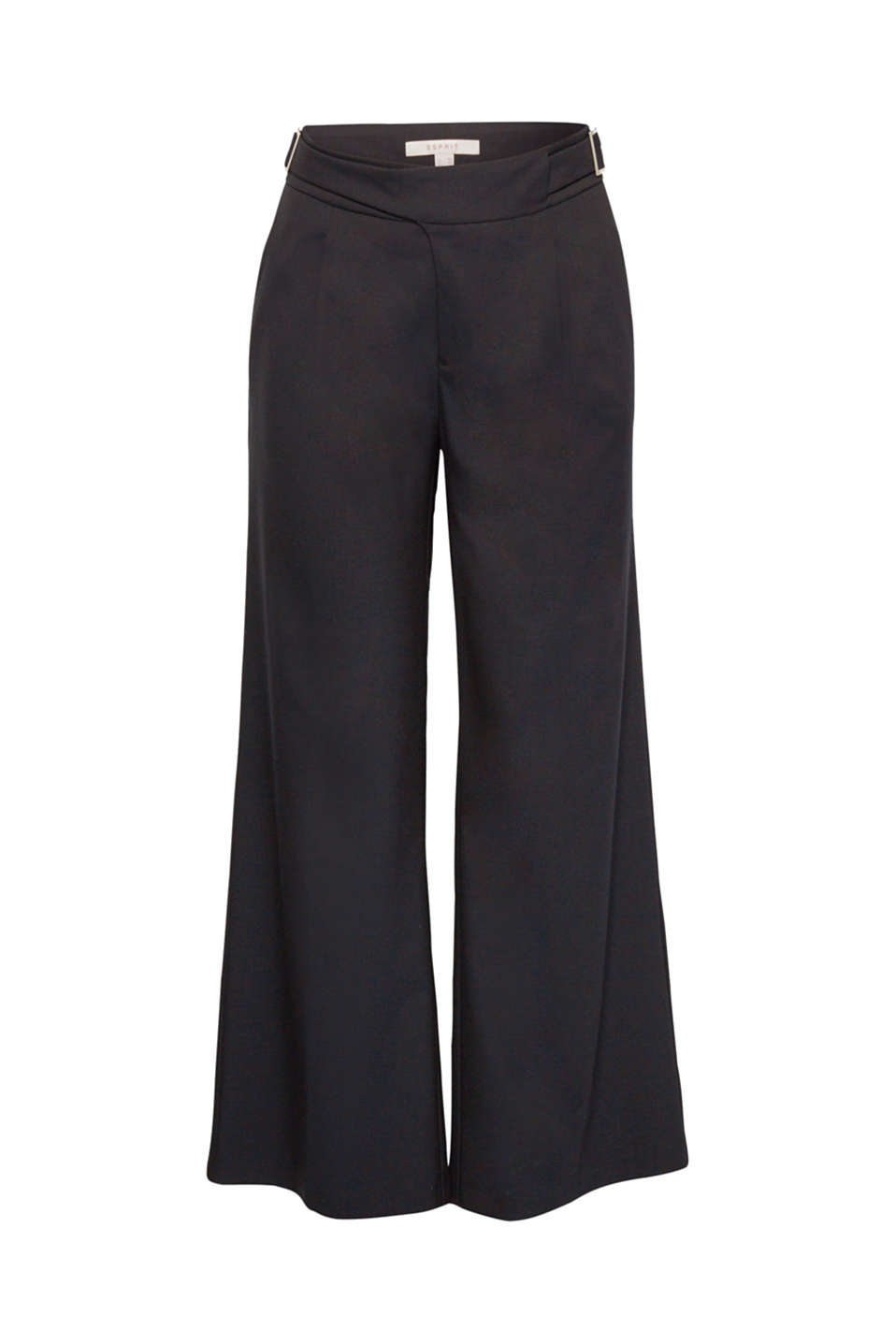 Fashion piece: these woven stretch trousers create a beautiful silhouette and a stylish look thanks to the unique leg width and waist-accentuating straps at the waistband!